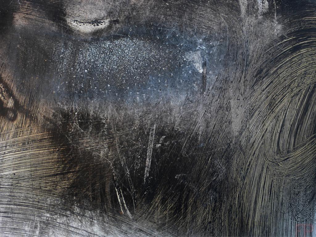 © François Ponthieu 2015 . Autre univers . Surface exposée à une brosse métallique